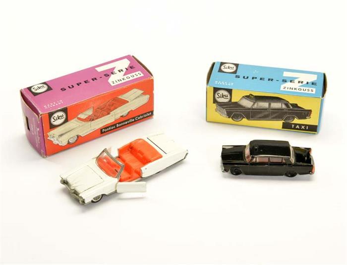 Siku, Fiat 1800 Taxi + Pontiac Bonneville Cabriolet