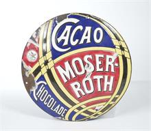 "Emailleschild ""Moser Roth Cacao"""
