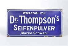 "Emailleschild ""Dr. Thompson's"""