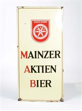 "Emailleschild ""Mainzer Aktion Bier"""