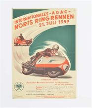 "Plakat ""Internationales ADAC Noris Ring Rennen"" 1957"