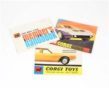 Corgi Toys, Handbuch Model Club Members, Katalog Lincoln Continental + Katalog Mercedes