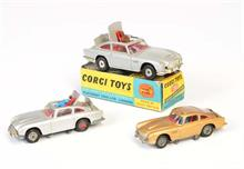 Corgi Toys, 3x James Bond Auto