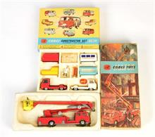 Corgi Toys, GS 24 Commer Set + Simon Snokel Fire Engine