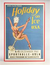 "Plakat ""Holiday on Ice"" 1961"