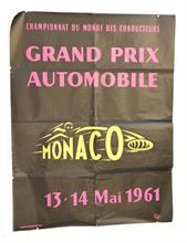 "Plakat ""Grand Prix Automobile MONACO 1961"""